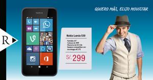 Nokia Lumia 530 a sólo S/. 299.00