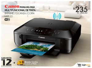 Impresora Canon multifuncional a sólo S/. 235.00