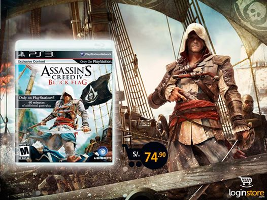 Assassin's Creed IV a sólo S/. 74.90
