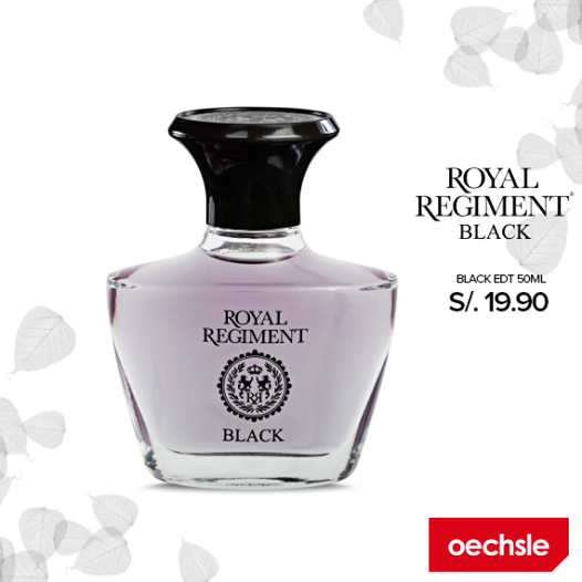 Fragancia Royal Regiment Black a sólo S/. 19.90
