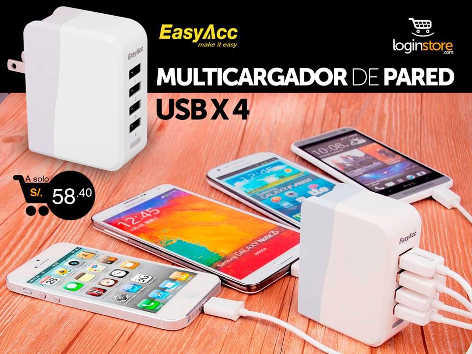 Multicargador a sólo S/. 58.40