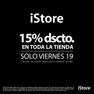 15% de descuento en la tienda iStore