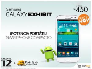 Samsung Galaxy Exhibit a sólo S/. 450.00