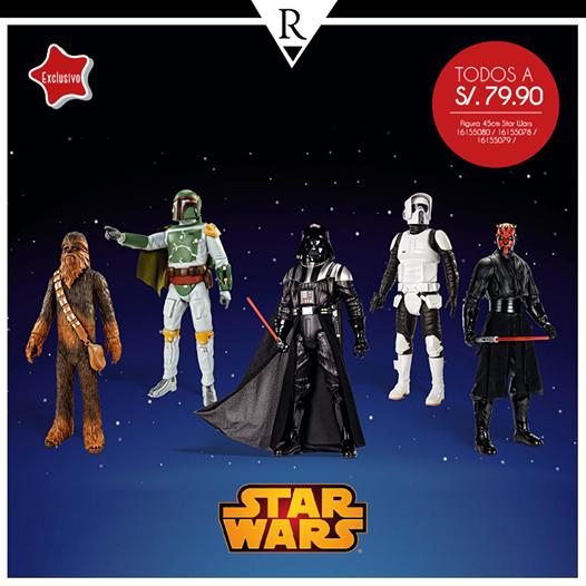 Figuras de Star Wars a sólo s/. 79.90