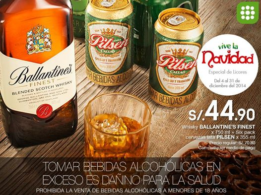 Whisky Ballantines Finest a sólo S/. 44.90
