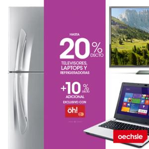 Hasta 20% de descuento en laptops, televisores y refrigeradoras