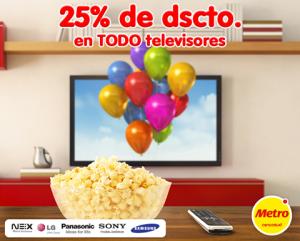 25% de descuento en televisores