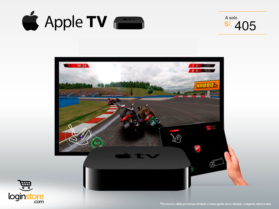 Apple TV a sólo S/. 405.00