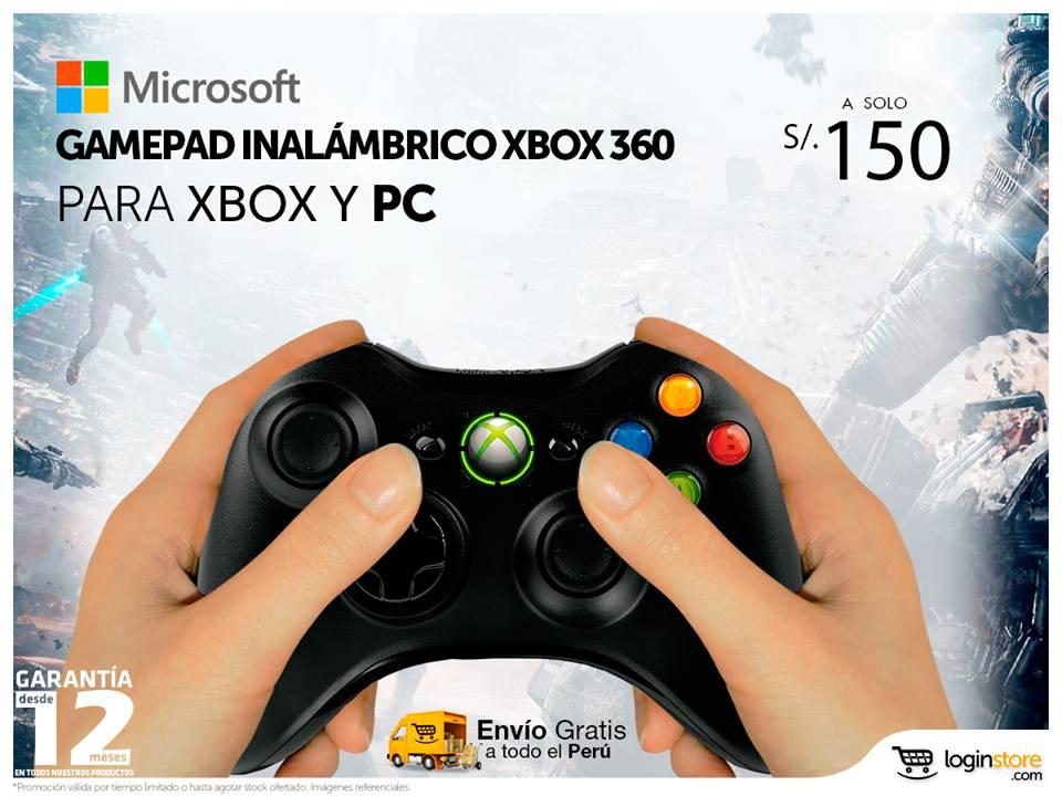 Gamepad inalámbrico a sólo S/. 150.00