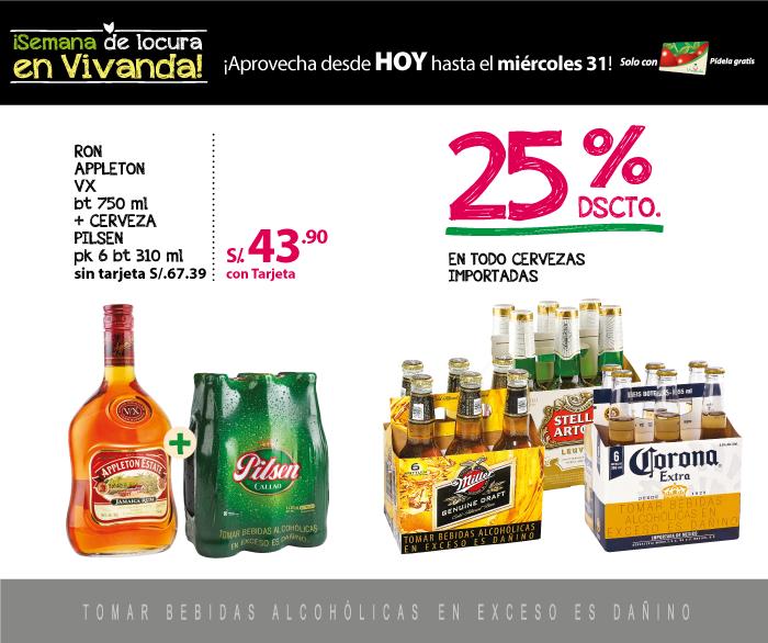 25% de descuento en cervezas importadas