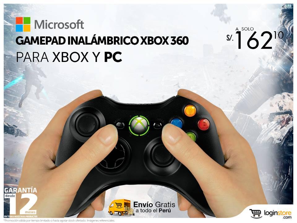 Gamepad inalámbrico a sólo S/. 162.10