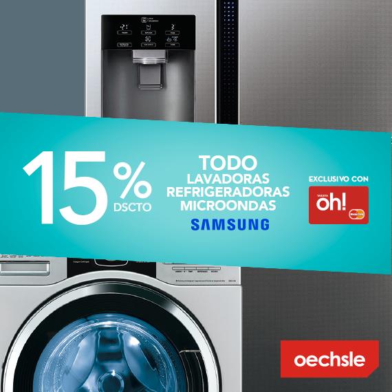 15% de descuento en lavadoras, refrigeradoras y microondas
