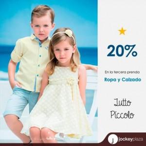 20% de descuento en ropa y calzado