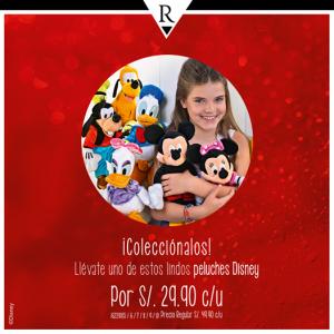 Peluches Disney a sólo S/. 29.90