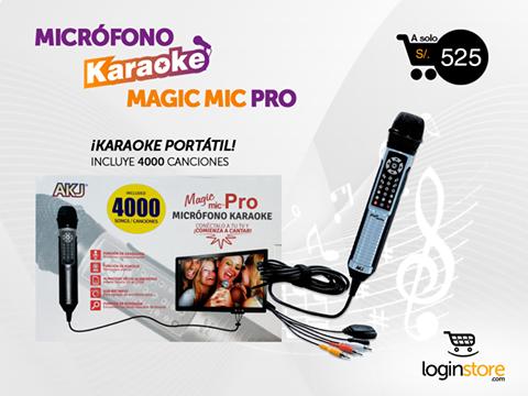 Micrófono con karaoke incorporado a sólo S/. 525.00