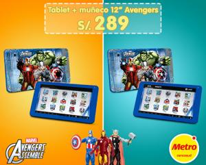 Tablet + Muñeco Advengers a sólo S/. 289.00