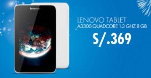 Tablet Lenovo a sólo S/. 369.00