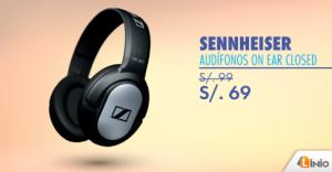 Audífonos Sennheiser a sólo S/. 69.00