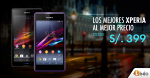 Sony Xperia desde S/. 399.00
