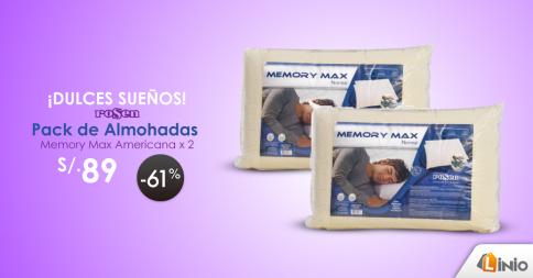 Pack de almohadas a sólo S/.89.00