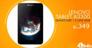 Tablet Lenovo A3 300 a sólo S/. 349.00