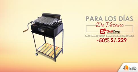 Parrilla Argentina galvanizada desmontable a sólo S/. 229.00