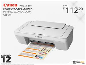 Impresora Canon multifuncional a sólo S/. 112.20