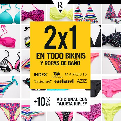2 x 1 en bikinis y ropas de baño