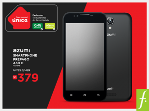 Smartphone Azumi a sólo S/. 379.00