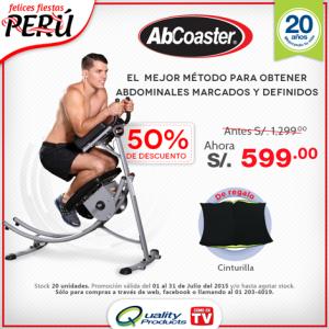 Increíble promoción. ¡50% de descuento en Ab Coaster!, Adquiéralo de S/. 1299, ahora a tan sólo S/. 599