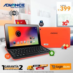 Tablet Advance 9″ 3G Dual Sim
