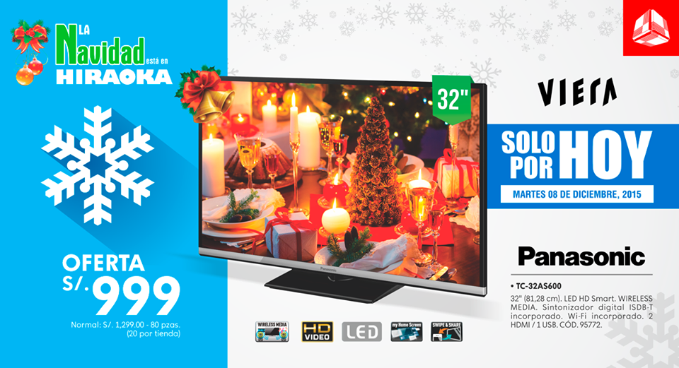 Televisor Led 32 Panasonic