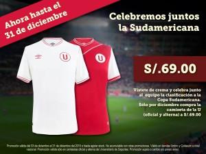 Promo de camiseta de Universitario a solo S/.69.00