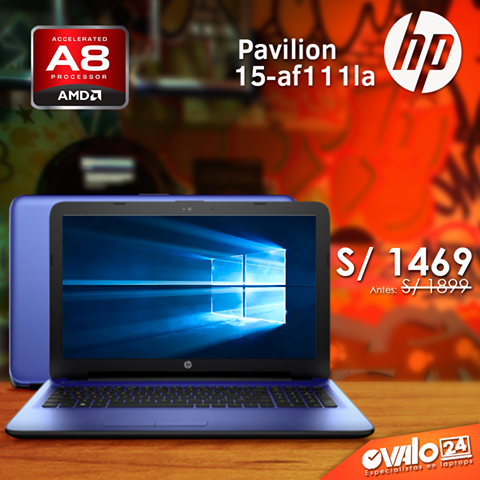 Laptop HP – 15-af111la AMD A8-7410 2.2GHz a S/.1469.00 soles