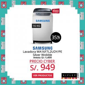 SAMSUNG LAVADORA WA16F7L2UDY/PE 16 KG – SILVER A  S/.949.00