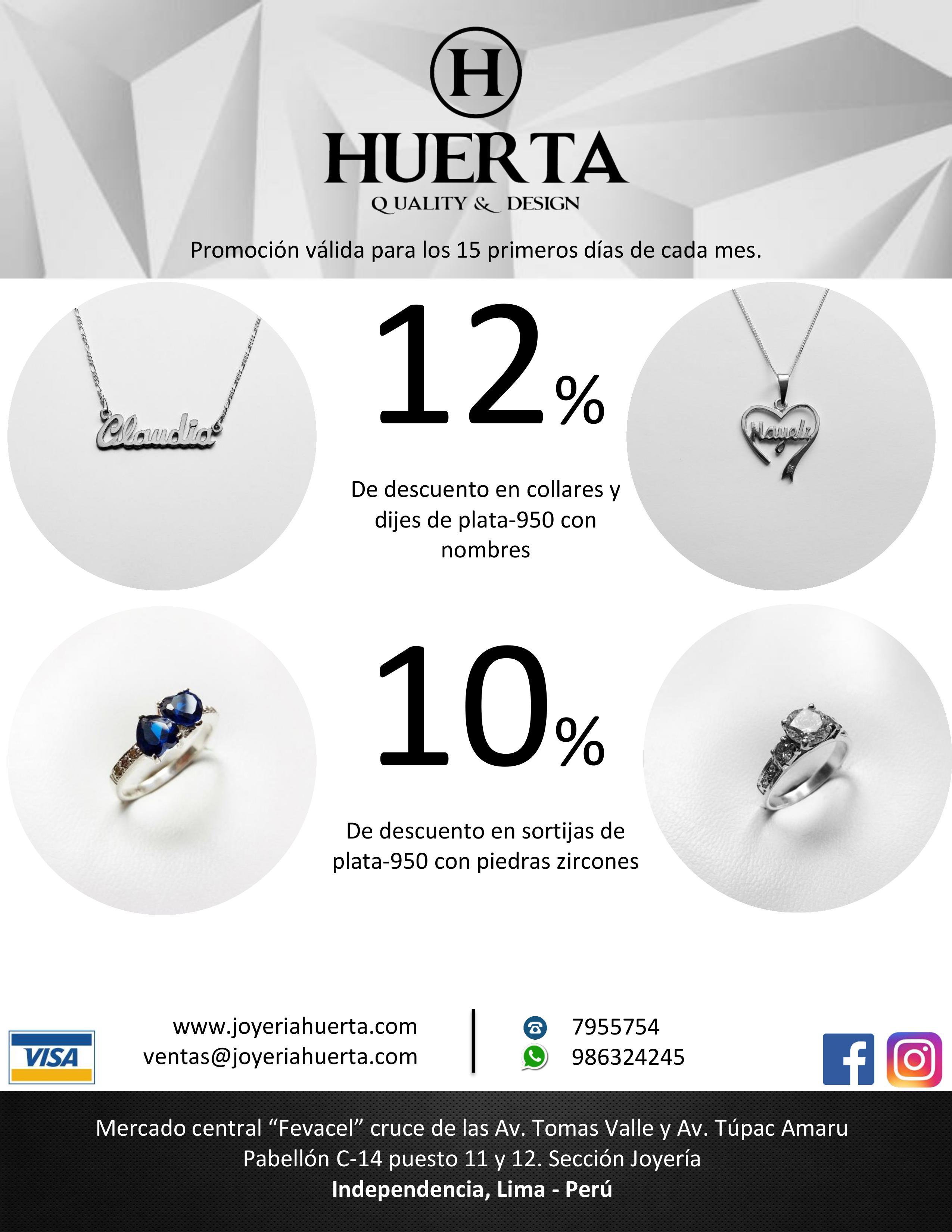 10% – 12% de descuento en joyas de Plata 950
