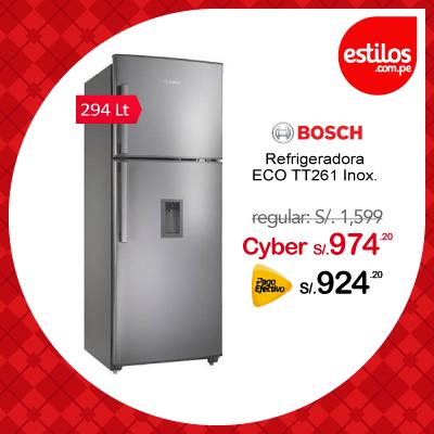 Bosch refrigeradora ECO TT261 Inox. Capacidad 294 litros
