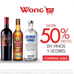Hasta 50% de Descuento en Vinos y Licores