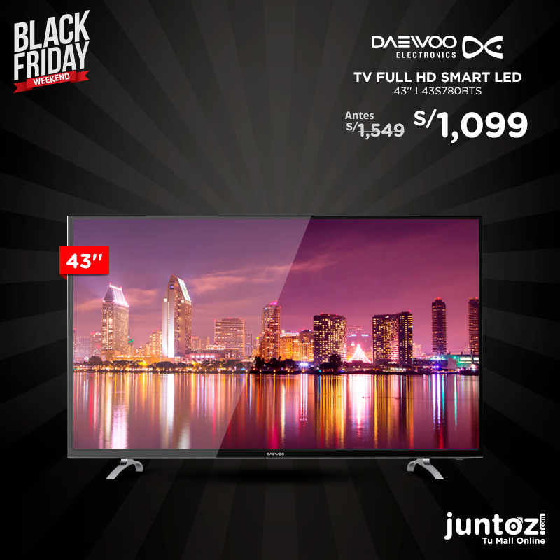 "Daewoo TV full hd Smart Led 43"" l43s780bts"