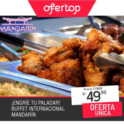 Paga S/ 49.90 en vez de S/ 71.00 por Buffet Internacional para 1 en Mandarín Restaurante Buffet