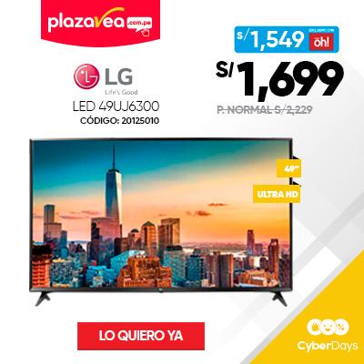 TELEVISOR LG LED 49″ UHD 4K SMART TV 49UJ6300 LG