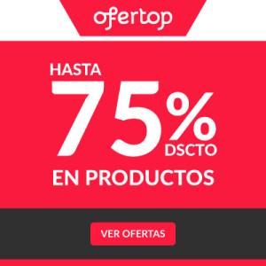 Hasta 75% de Descuento en Productos