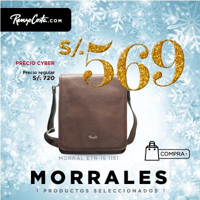 MORRAL DE CUERO PARA HOMBRE MORRAL ETR-15 1151  DARK BROWN