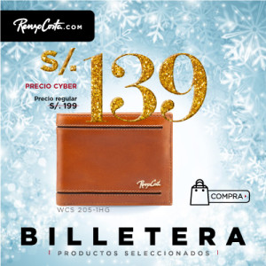 BILLETERA DE CUERO PARA HOMBRE WCS 205-1HG 67MIEL