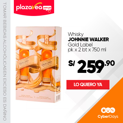 Whisky JOHNNIE WALKER Gold reserve Pack 2Un x Botella 750Ml
