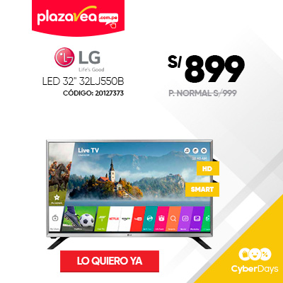 TELEVISOR LG LED 32″ HD SMART TV 32LJ550B