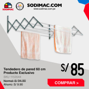 Tendedero de pared 60 cm (Antes S/101) Producto Exclusivo