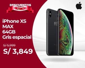 iPhone XS MAX 64GB – Gris Espacial – Descuentos Patrios