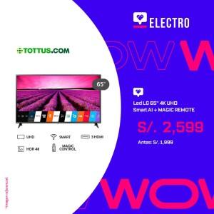 Led LG 65″ 4K UHD Smart AI + MAGIC REMOTE