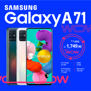 Tu #GalaxyA71  a sólo S/ 1749.90